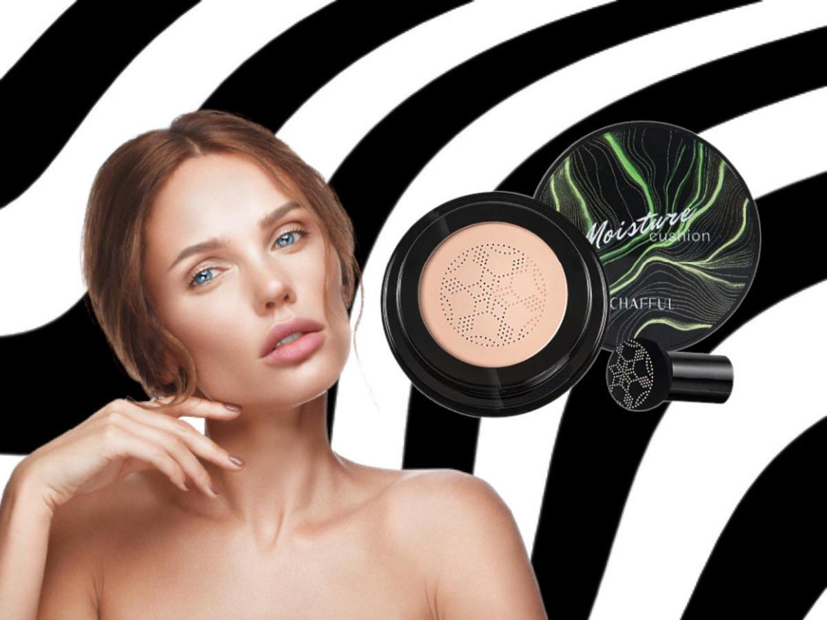 lekki makijaż - krem cc poduszka powietrzna