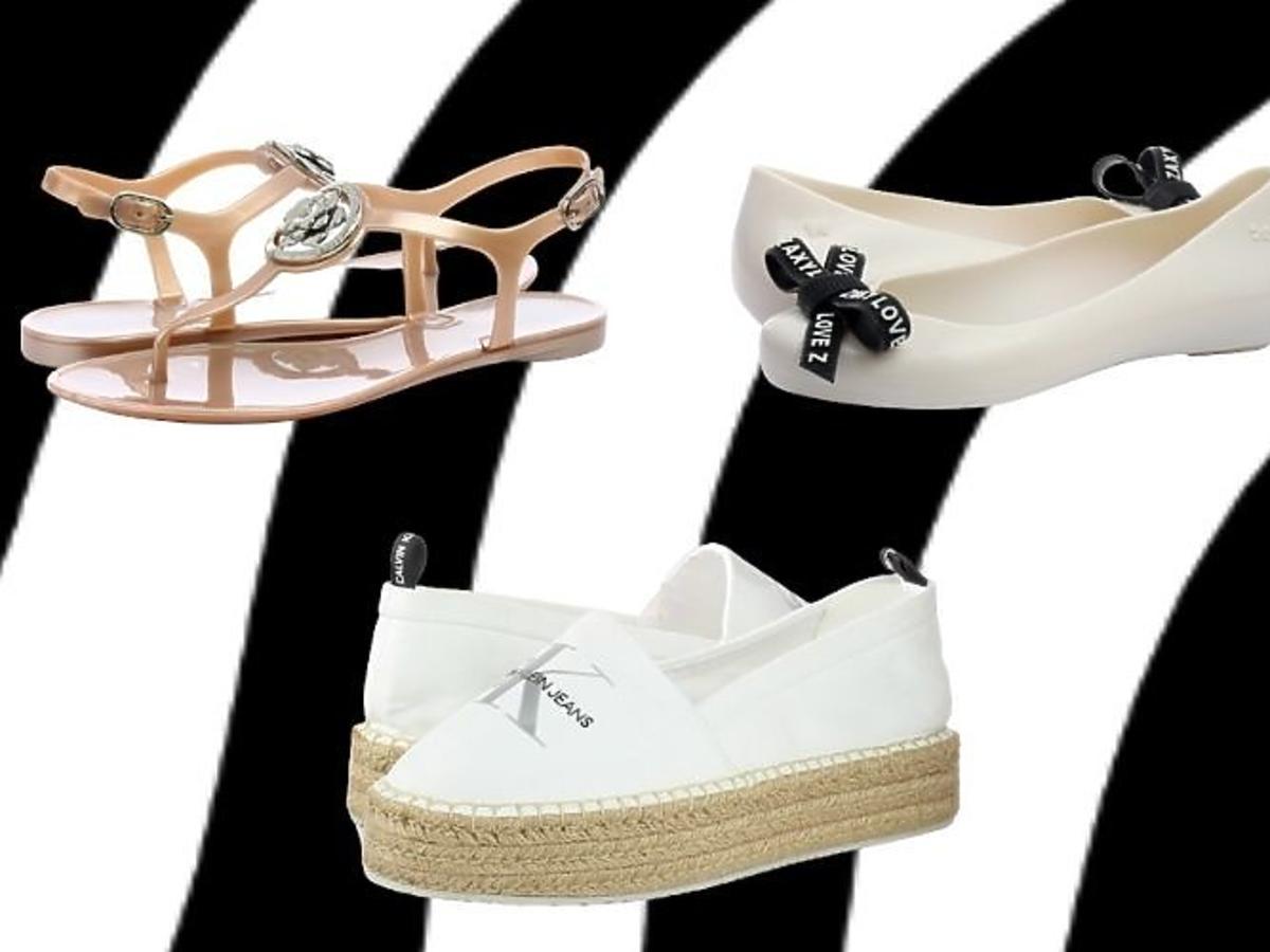 Letnie buty na wyprzedaży: Guess, Kalvin Klein Jeans, Zaxy