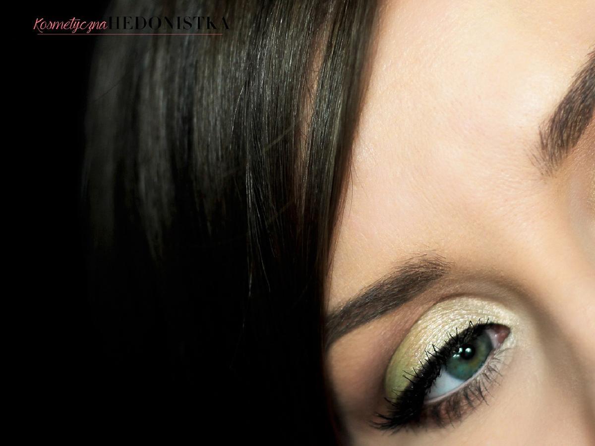 Limonkowy makijaż oczu na wiosnę