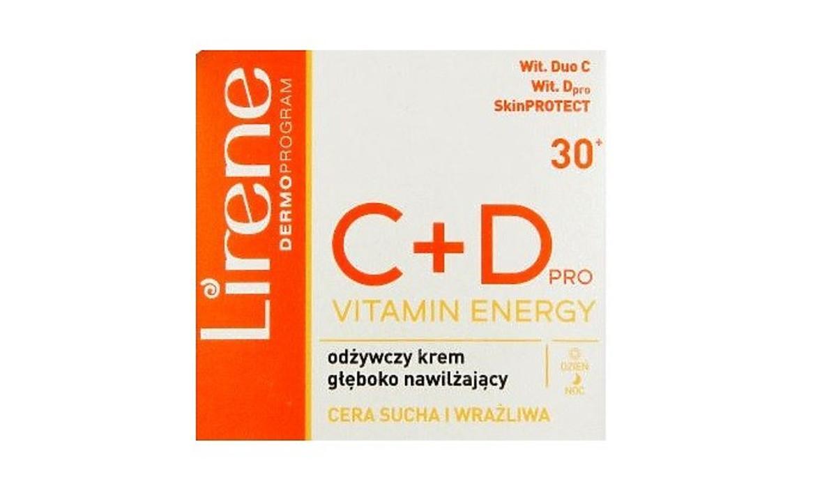 Lirene dermoprogram odżywczy krem nawilżający z witaminą C i D na promocji w Rossmannie