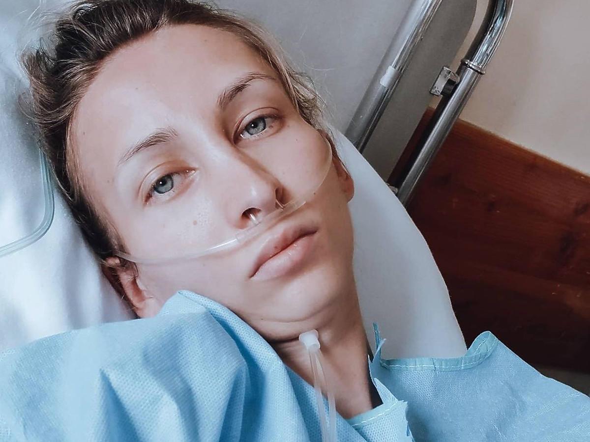 """Liubov Miruk z """"Projektu Lady"""" w szpitalu niedługo po porodzie"""