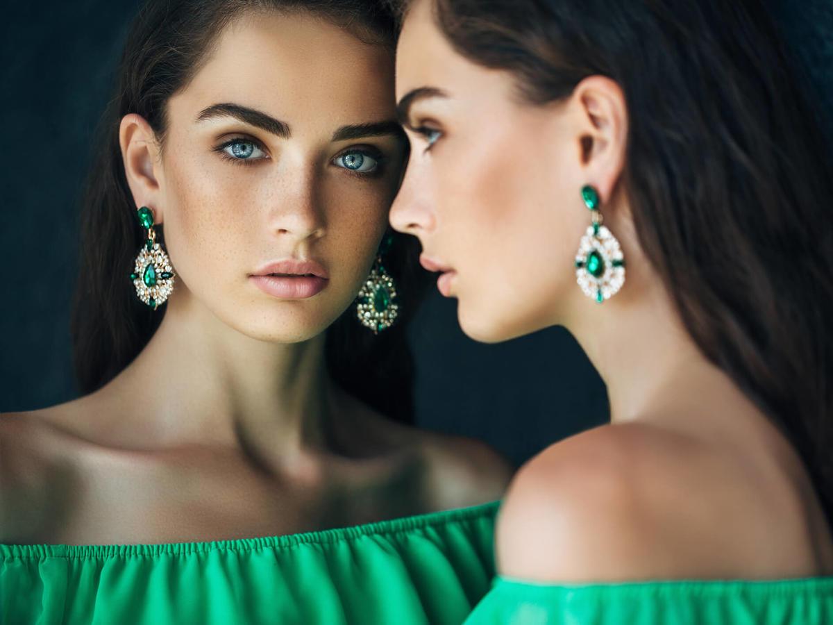 makijaż do zielonej sukienki