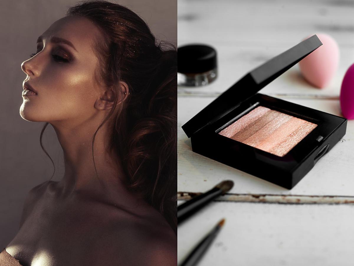 makijaż rozświetlający - rozświetlacz do twarzy i ciała