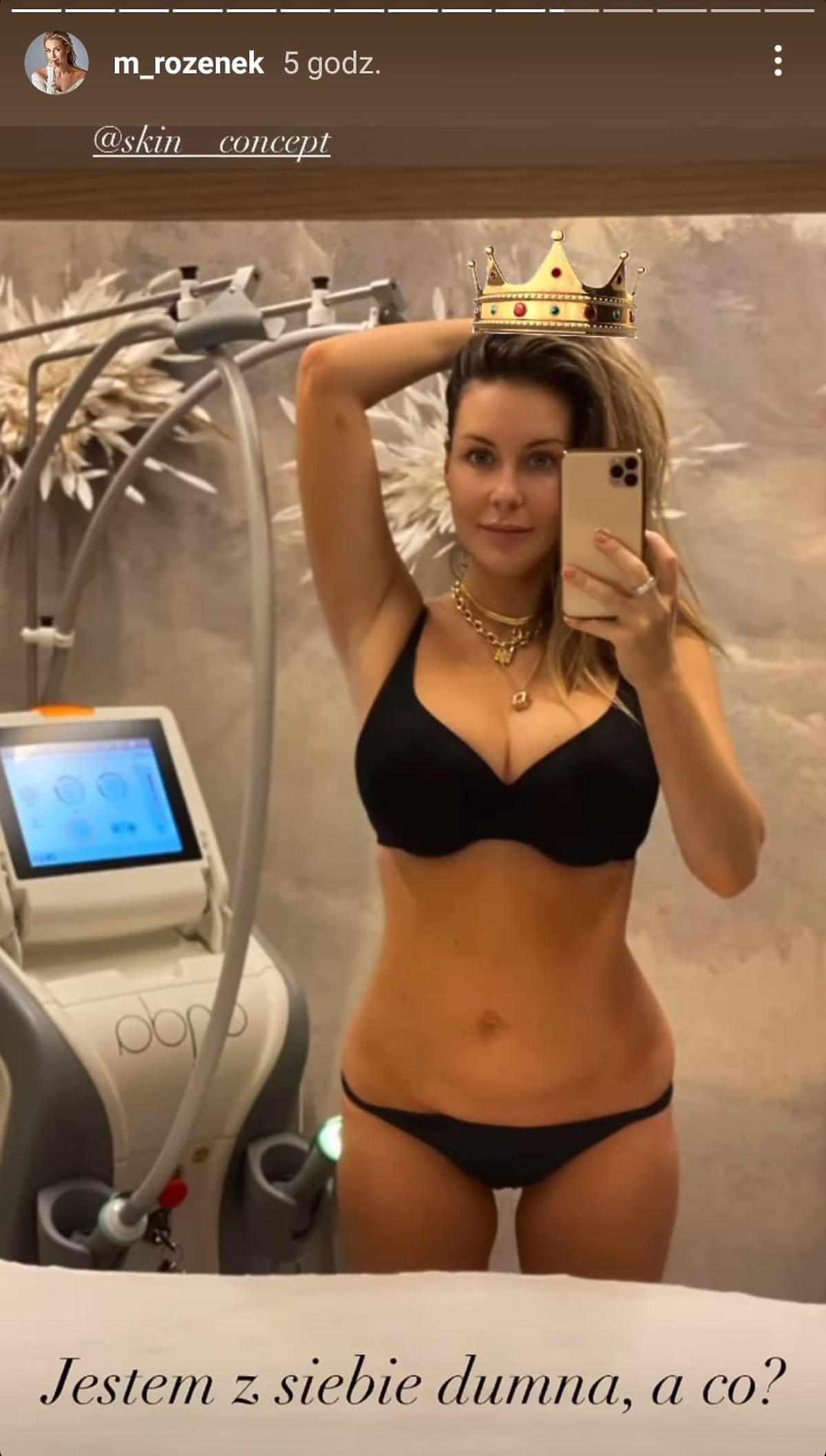 Małgorzata Rozenek-Majdan chwali się idealnie płaskim brzuchem pół roku po porodzie