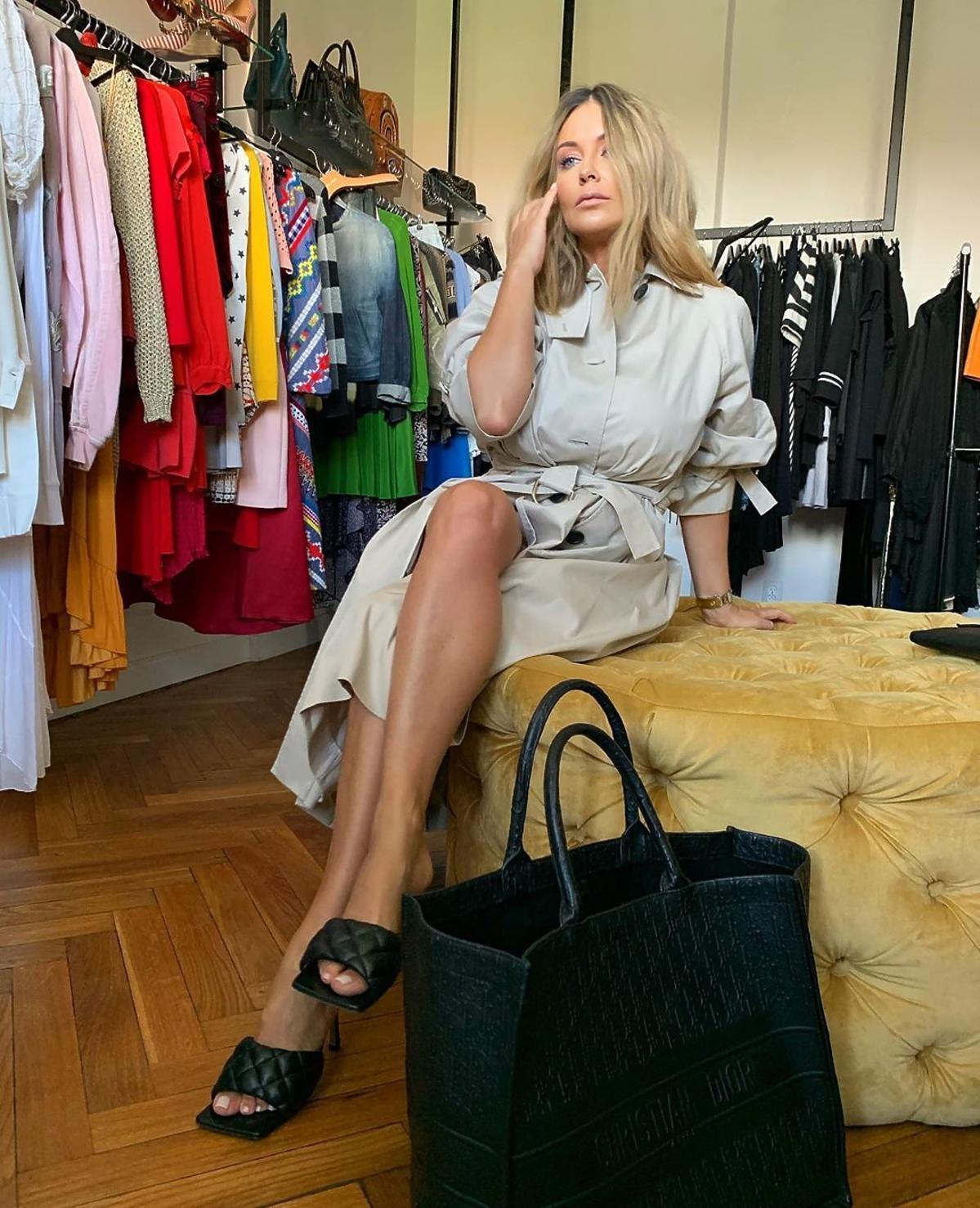 Małgorzata Rozenek-Majdan w ultramodnych klapkach Bottega Veneta
