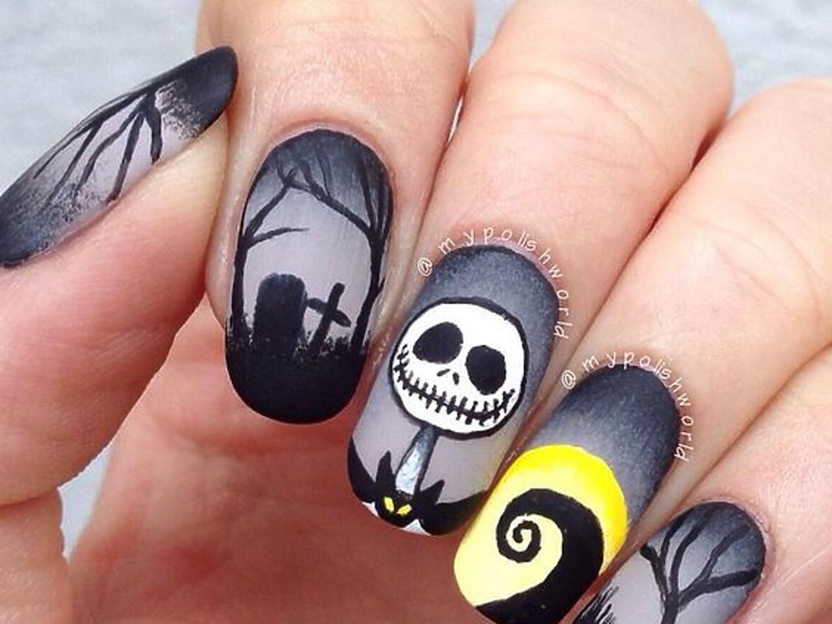 Manicure na Halloween 2016