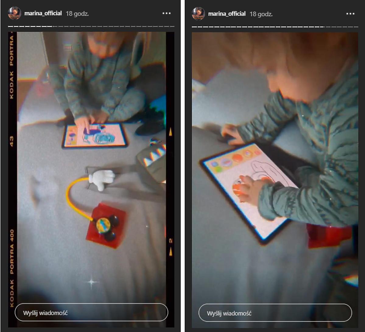 Marina pokazała twarz synka