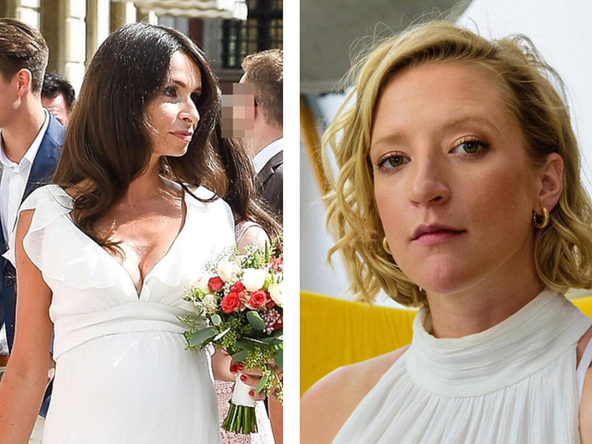 Marta Kaczyńska i Lara Gessler w białych sukniach