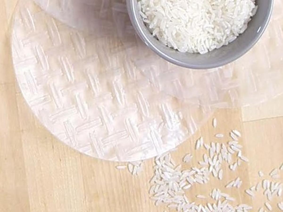maseczka z papieru ryżowego i zielonej herbaty