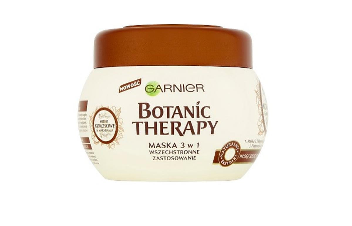Maska 3w1 mleko kokosowe Botanic Therapy Gariner