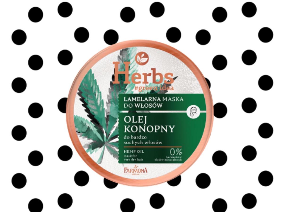 Maska do włosów z olejem konopnym od Herbs