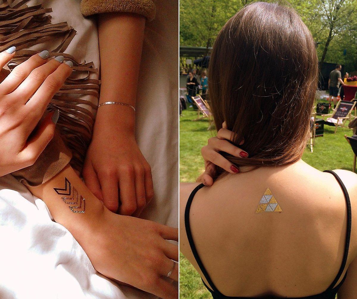metaliczne tatuaże Shine Tatoo
