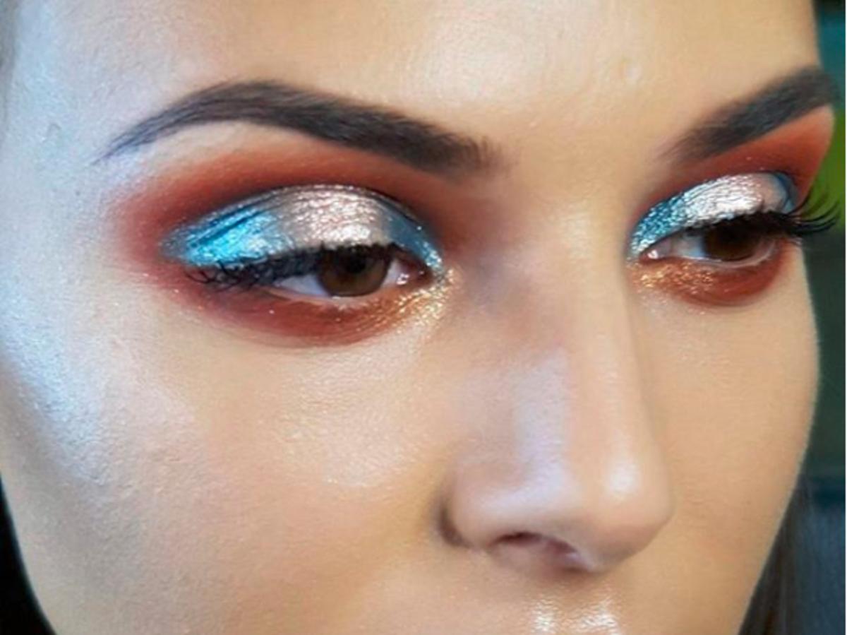 metaliczny makijaż