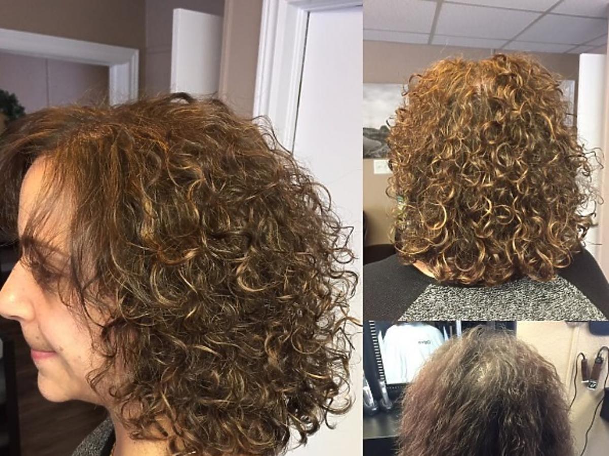 Metamorfoza kręconych włosów, zdjęcia przed i po