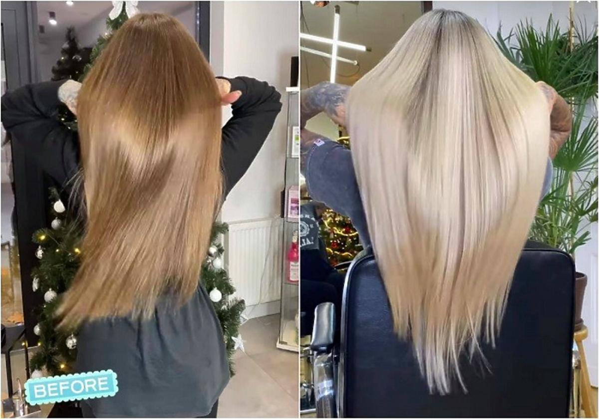 Metamorfoza włosów Deynn