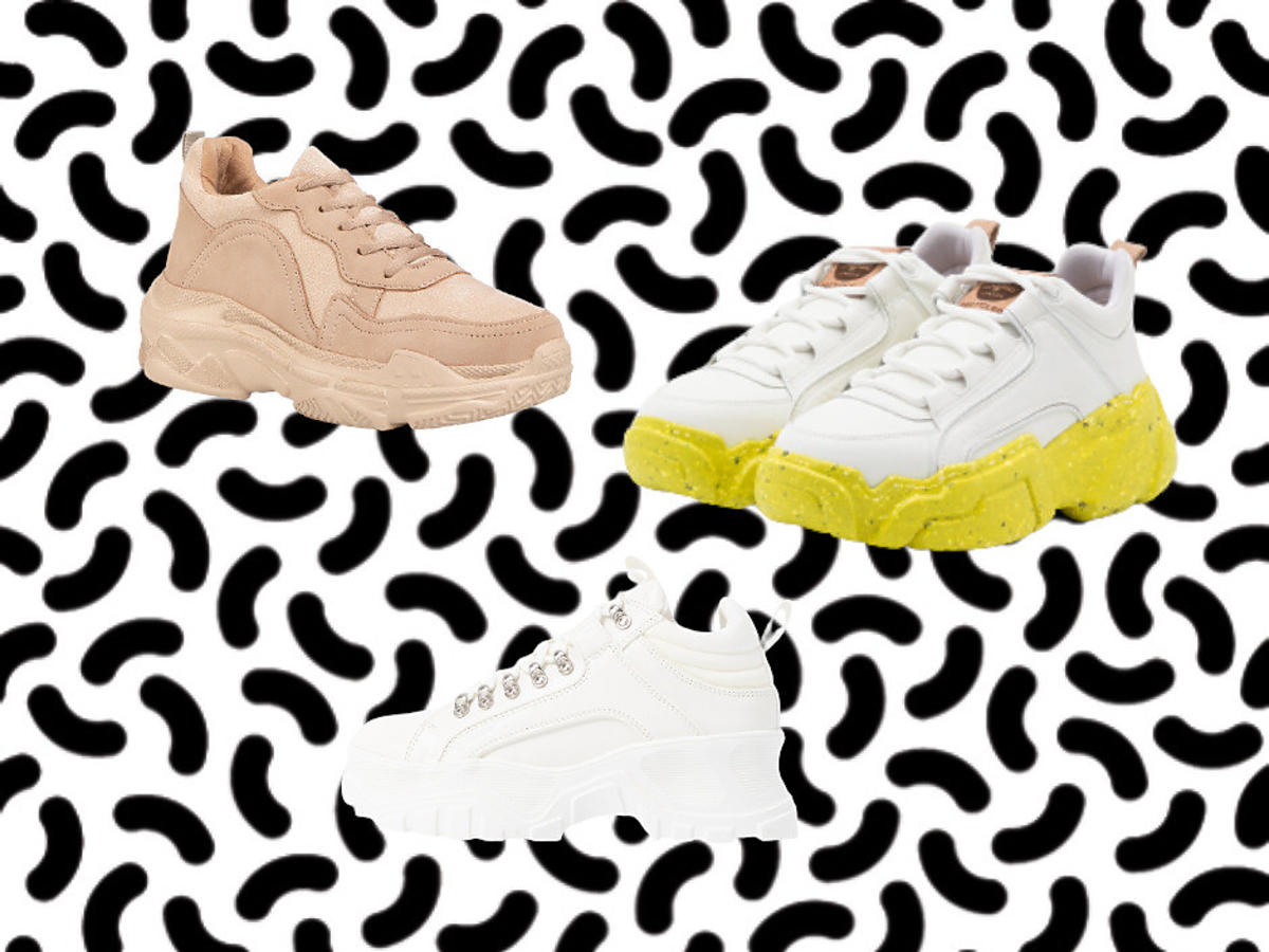 modne buty 2021 - sneakersy na platformie