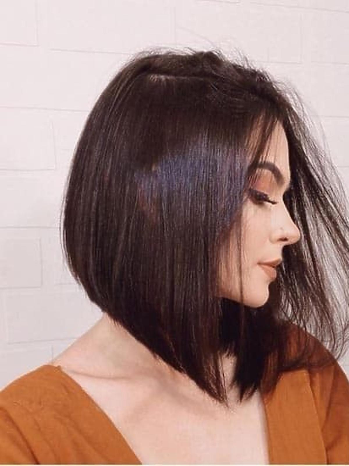 Modne fryzury na jesień 2020 - klasyczny angular bob