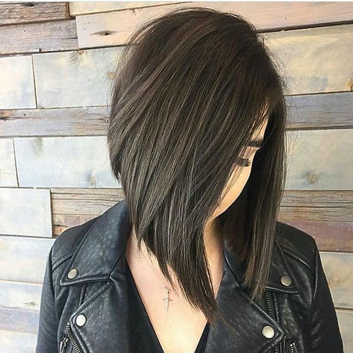 Modne fryzury na jesień 2020 - angular bob