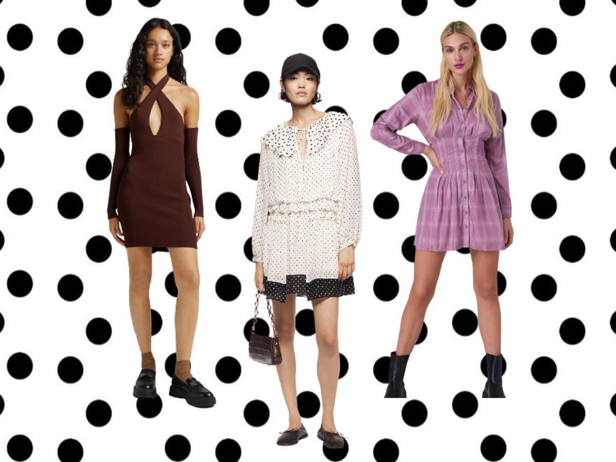 modne sukienki na jesień 2021 z sieciówek