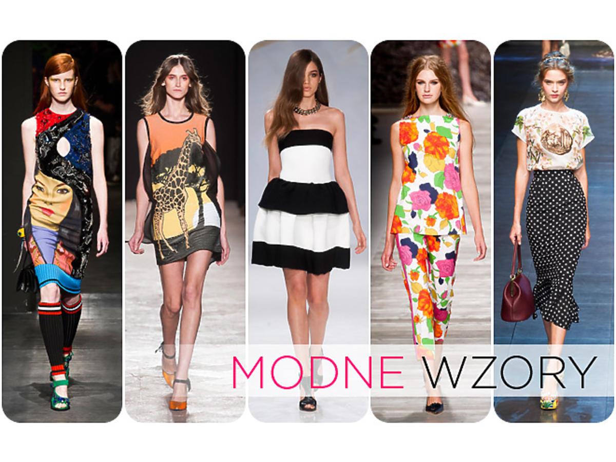 modne wzory wiosna-lato 2014