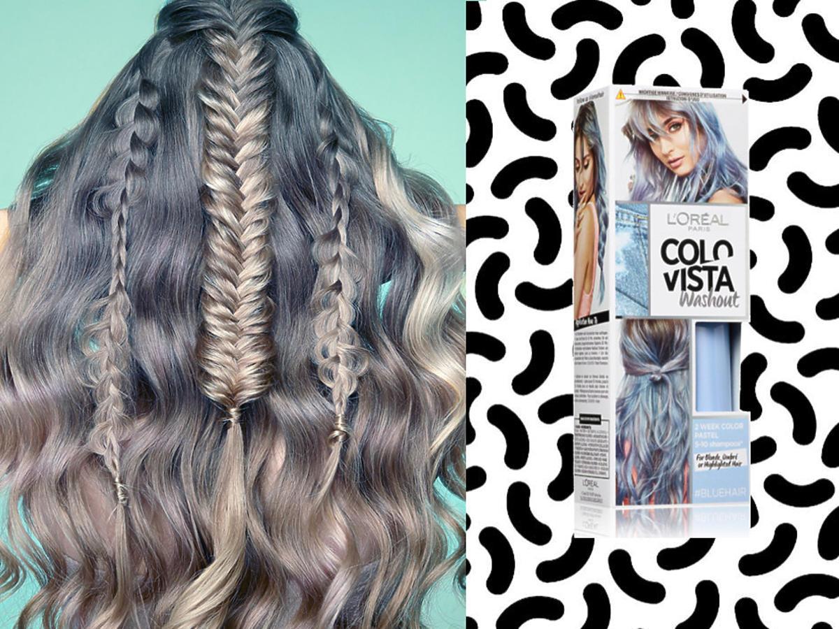modny kolor włosów 2021 moody blue hair