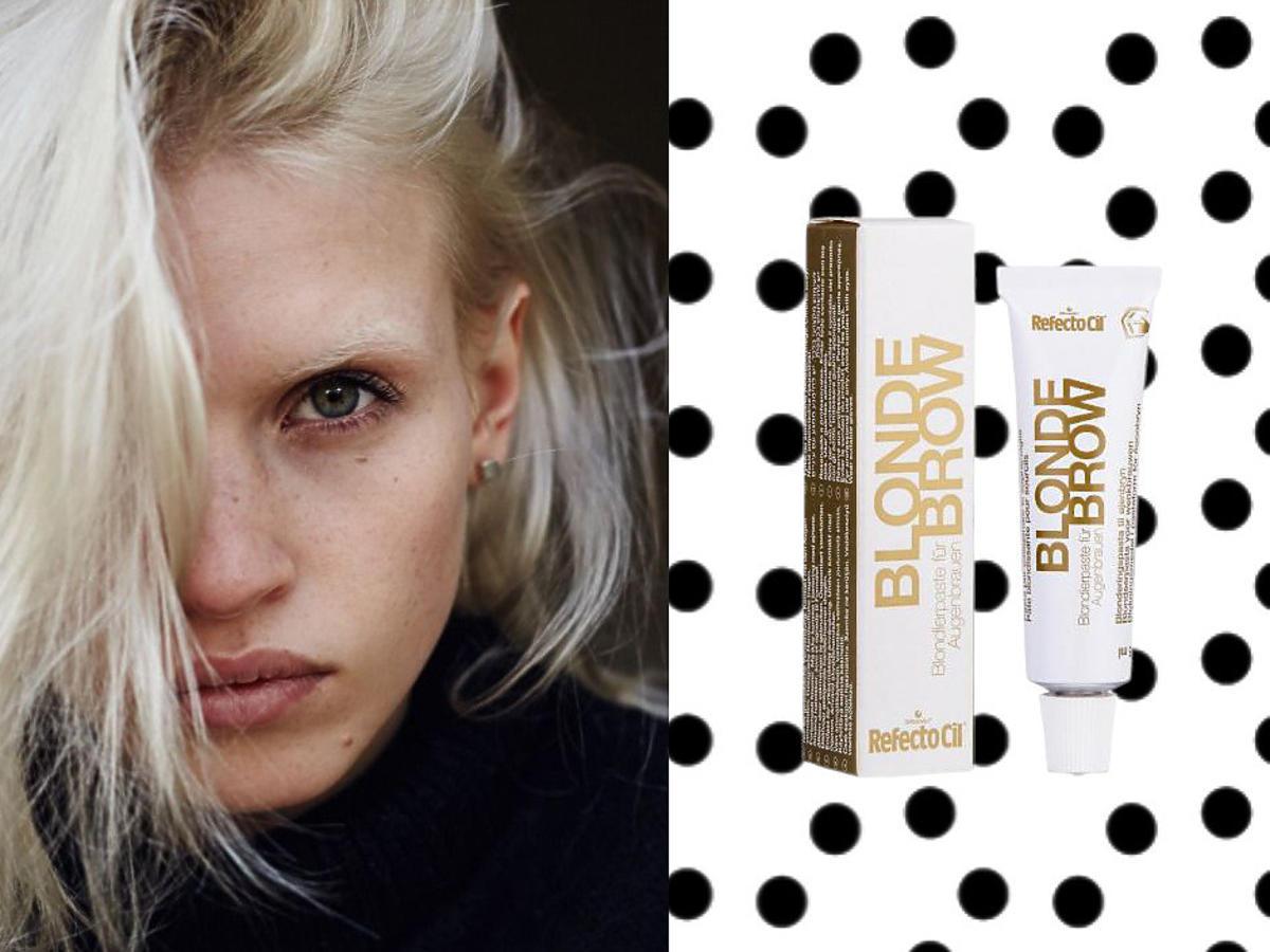 modny makijaż 2021 - rozjaśnianie brwi - pasta do rozjaśniania brwi