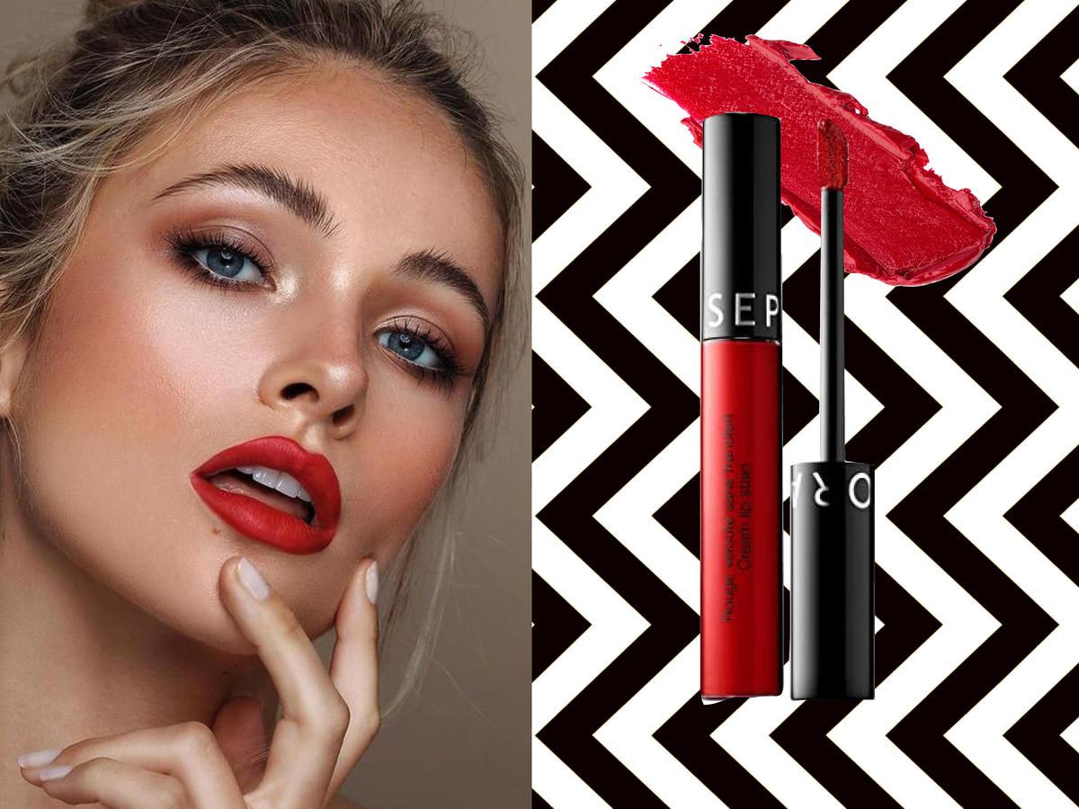 Modny makijaż na jesień 2020: czerwone usta