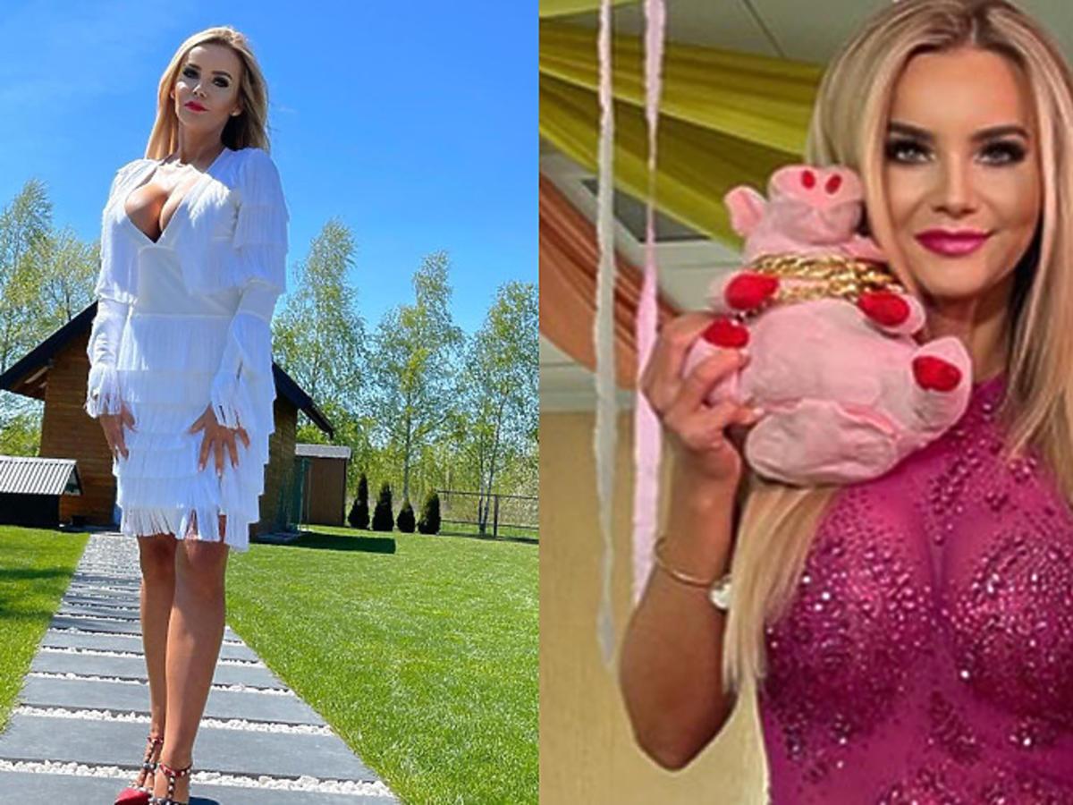 """Monika Chwajoł z """"Królowych życia"""" na ślubie koleżanki w różowej sukience"""