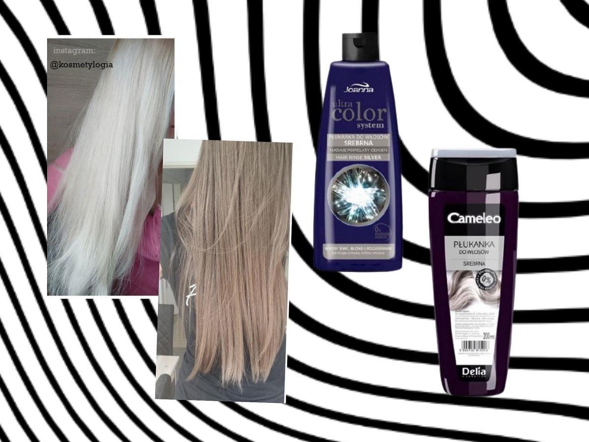 najlepsze srebrne płukanki do włosów - efekty