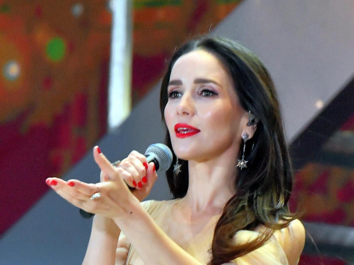 Natalia Oreiro podczas występu w Polsce