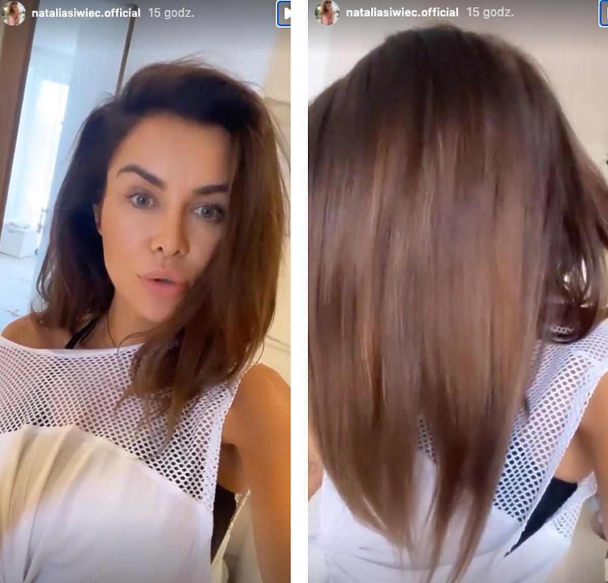 Natalia Siwiec w nowej fryzurze - zrezygnowała z doczepianych włosów