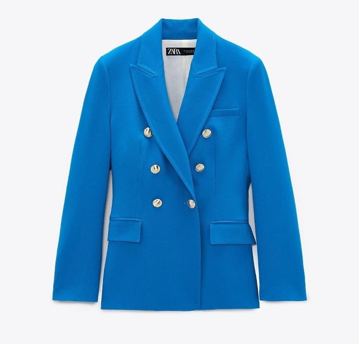 Niebieska marynarka Zara