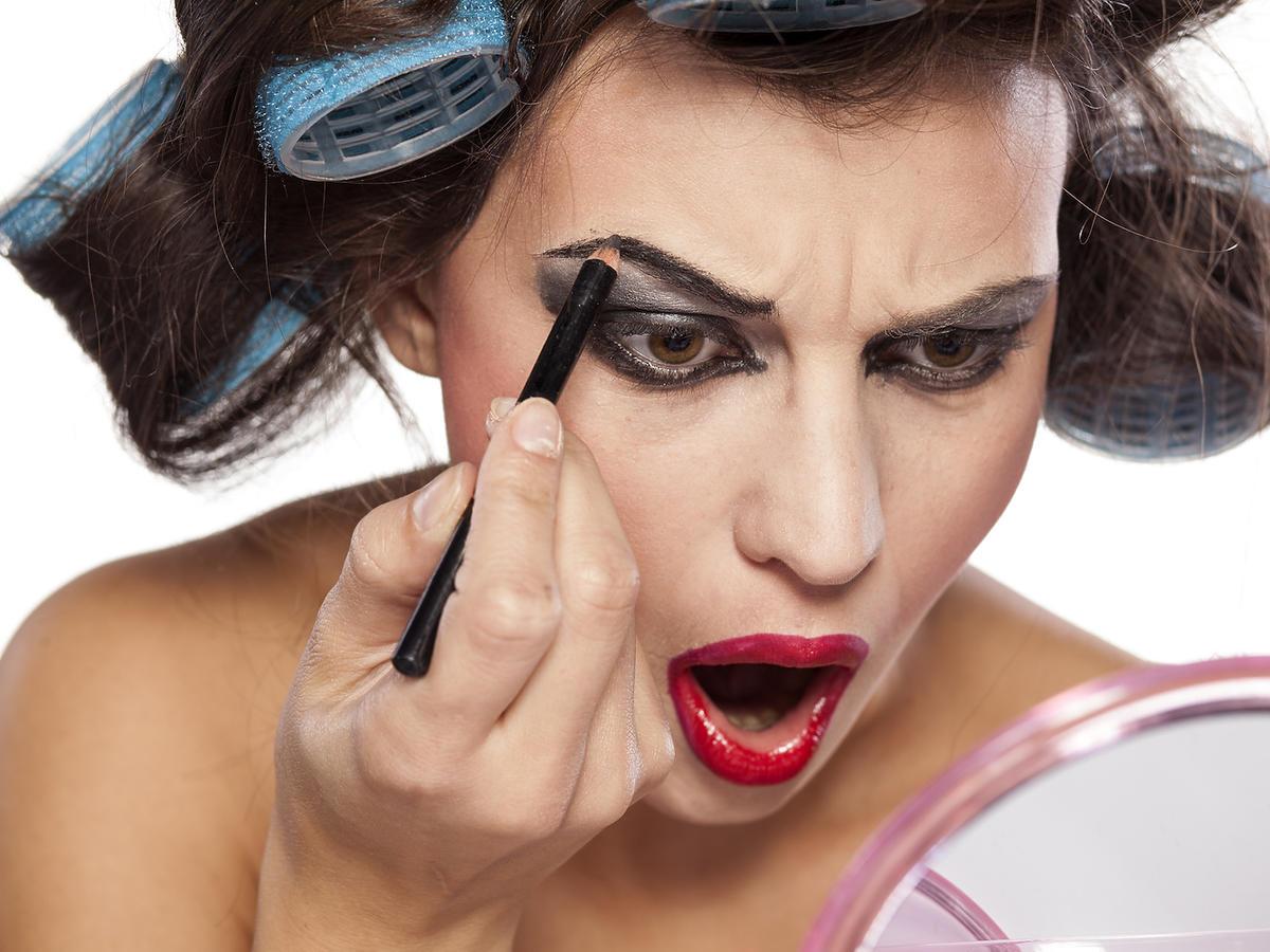 Nietrafiony makijaż? To może się przydarzyć każdej z nas!/fot. Fotolia