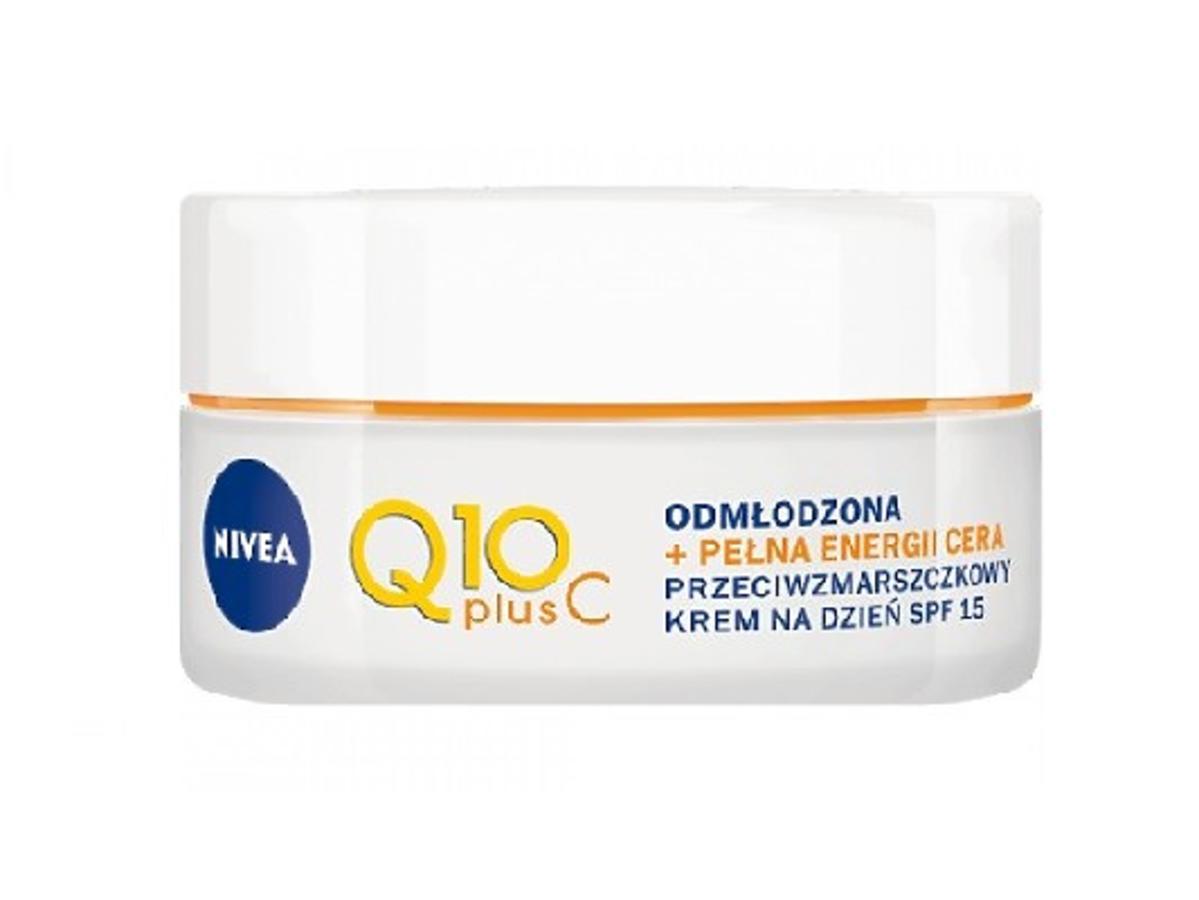 Nivea, Q10 plus C, Przeciwzmarszczkowy krem pod makijaż z Rossmanna z SPF 15