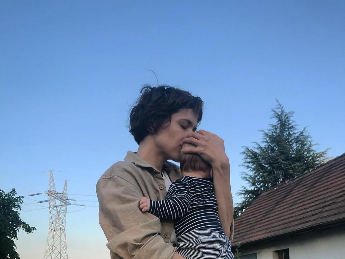 Ola Hamkało z synkiem