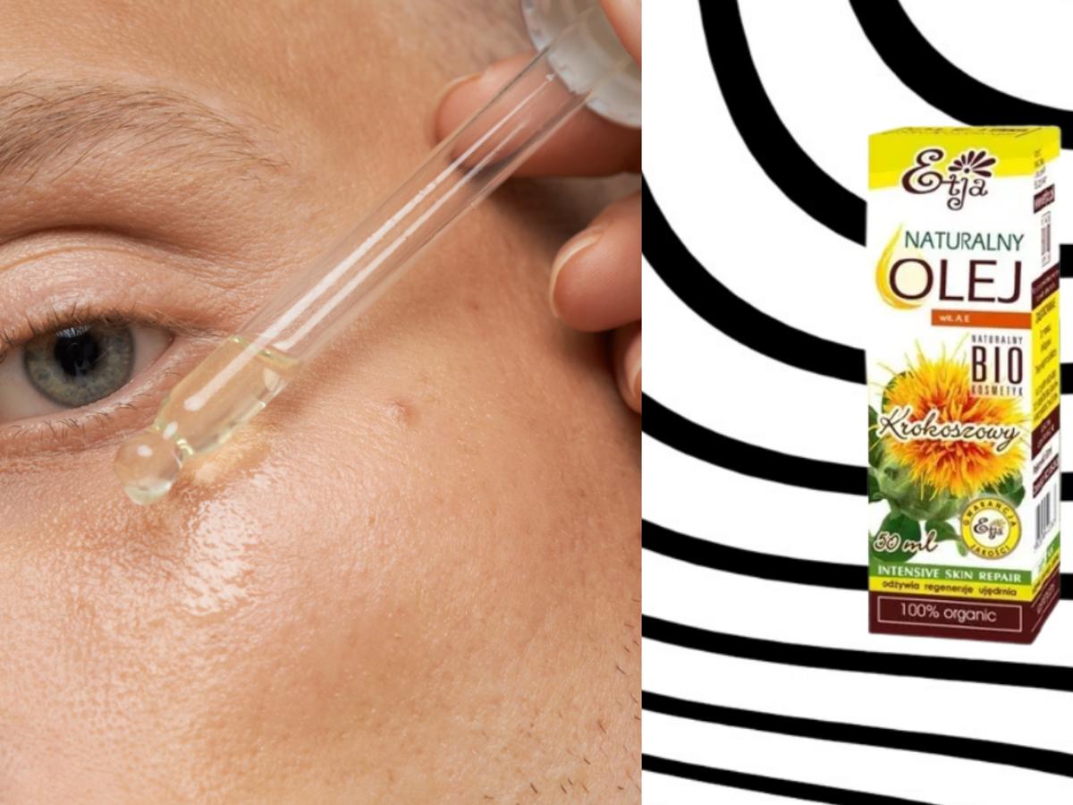 olej krokoszowy- na twarz i włosy