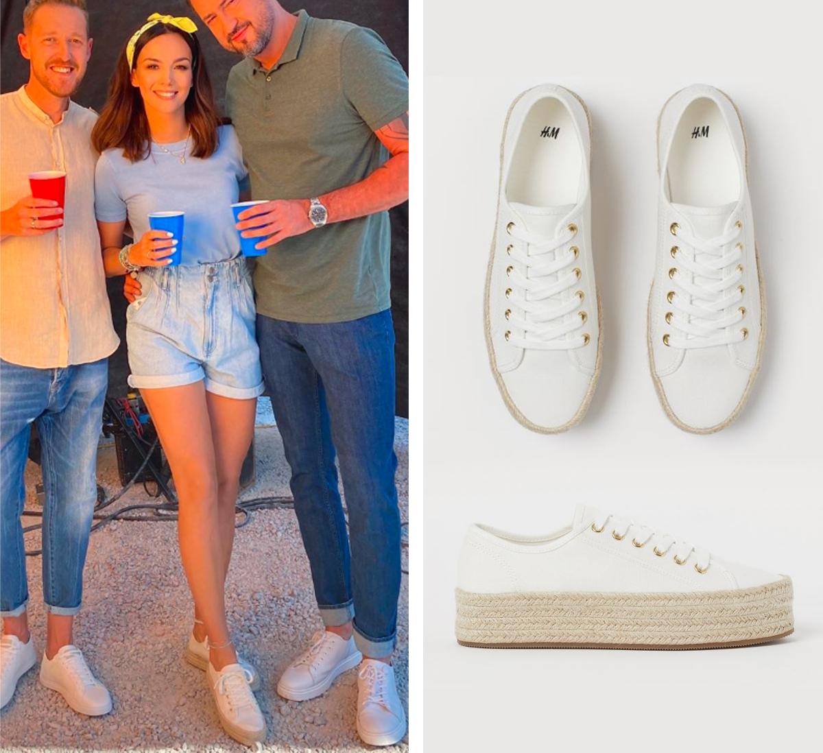 Paulina Krupińska w modnych butach z H&M na lato