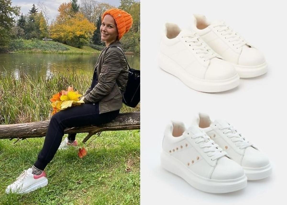 Paulina Sykut-Jeżyna w sneakersach białych