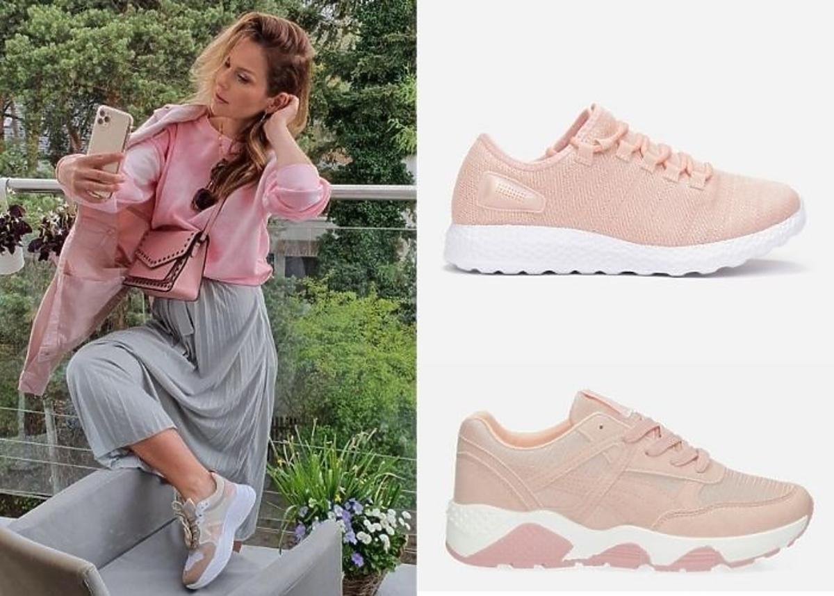Paulina Sykut-Jeżyna w sneakersach różowych