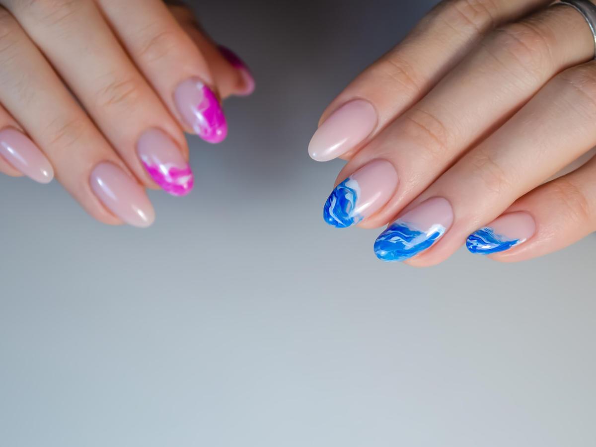 paznokcie na wiosnę 2021 waves nails
