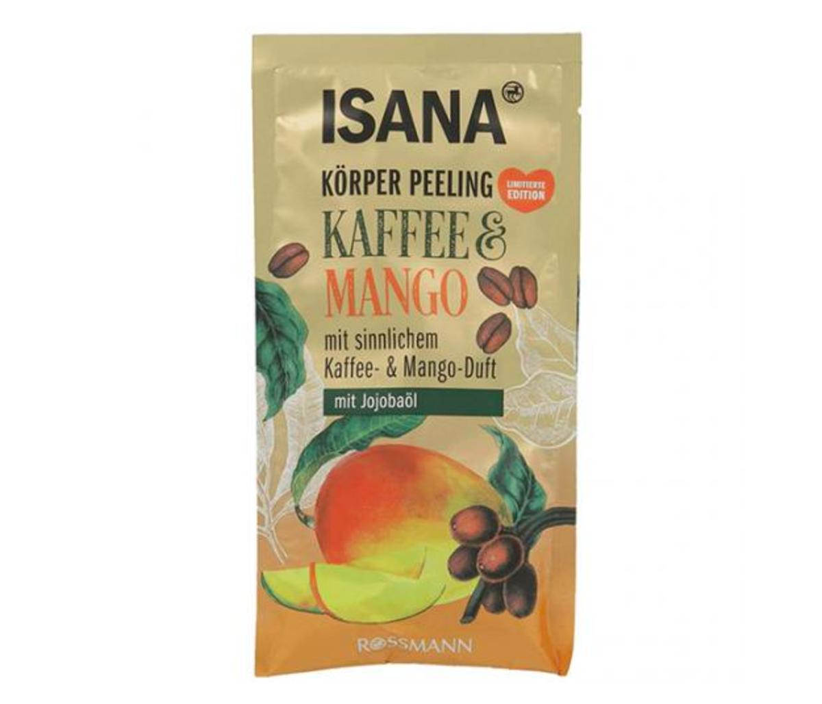 peeling do ciała isana, Kaffe & Mango