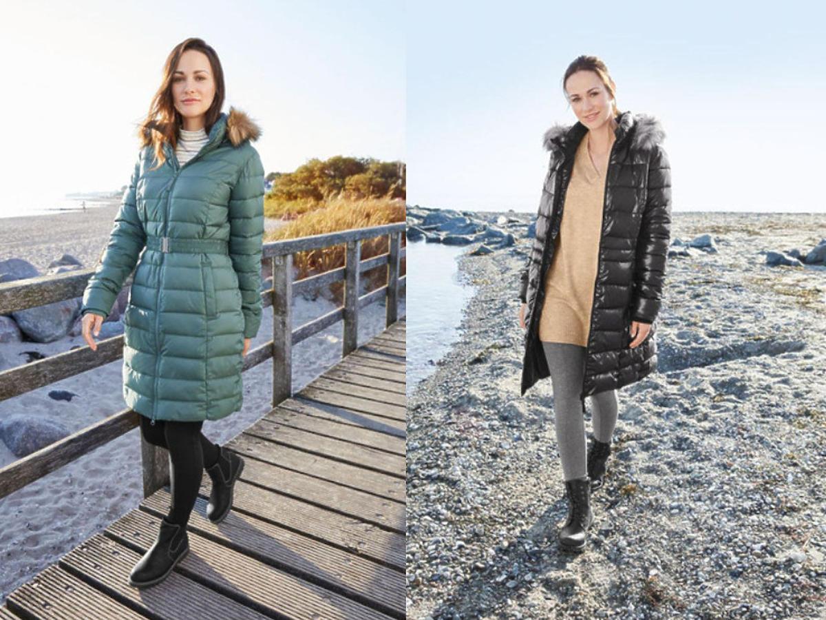 pikowany płaszcz na zimę z Lidla
