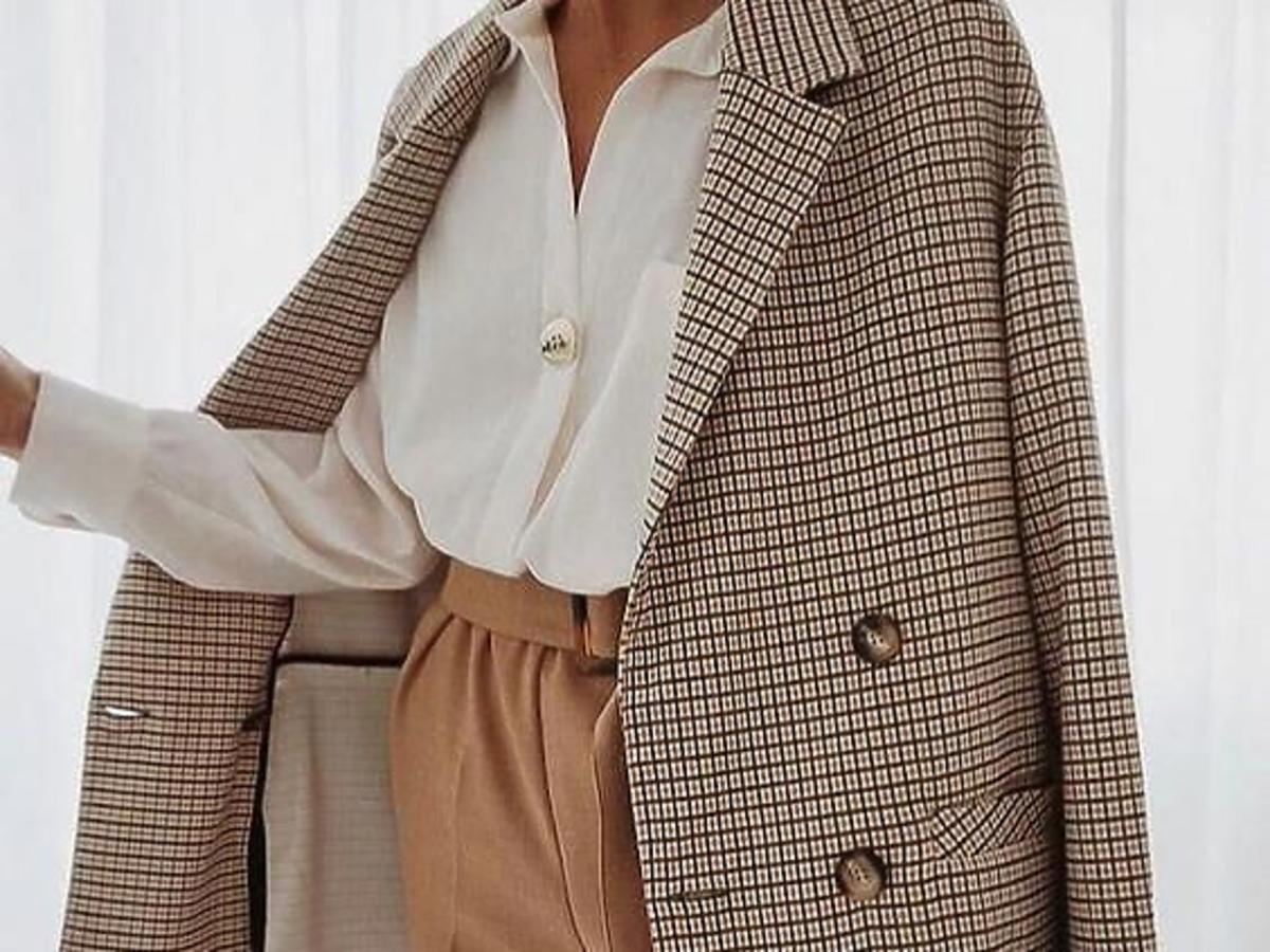 płaszcz w kratę na jesień 2020