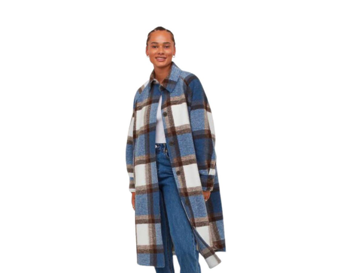 Płaszcz w kratę z H&M