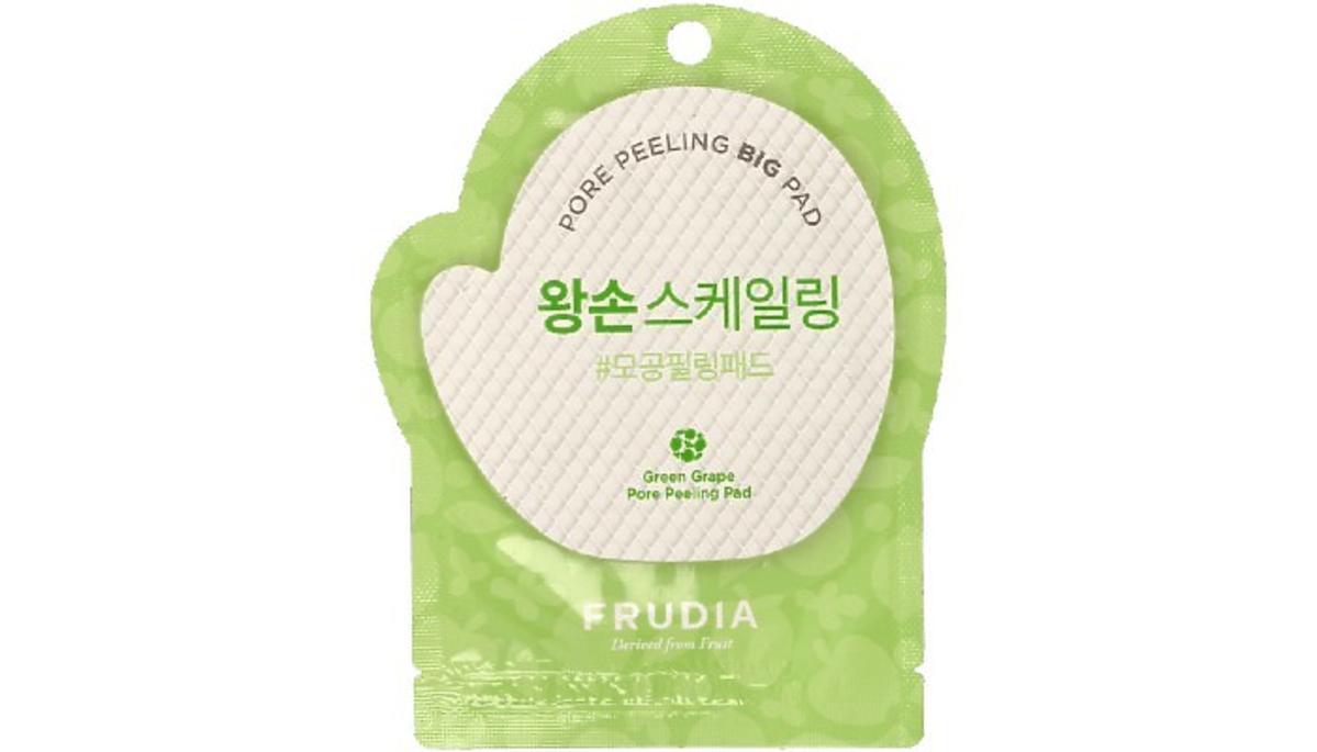płatek złuszczający w formie rękawicy od Frudia, No PoreBlem, Green Grape Pore Peeling Big Pad