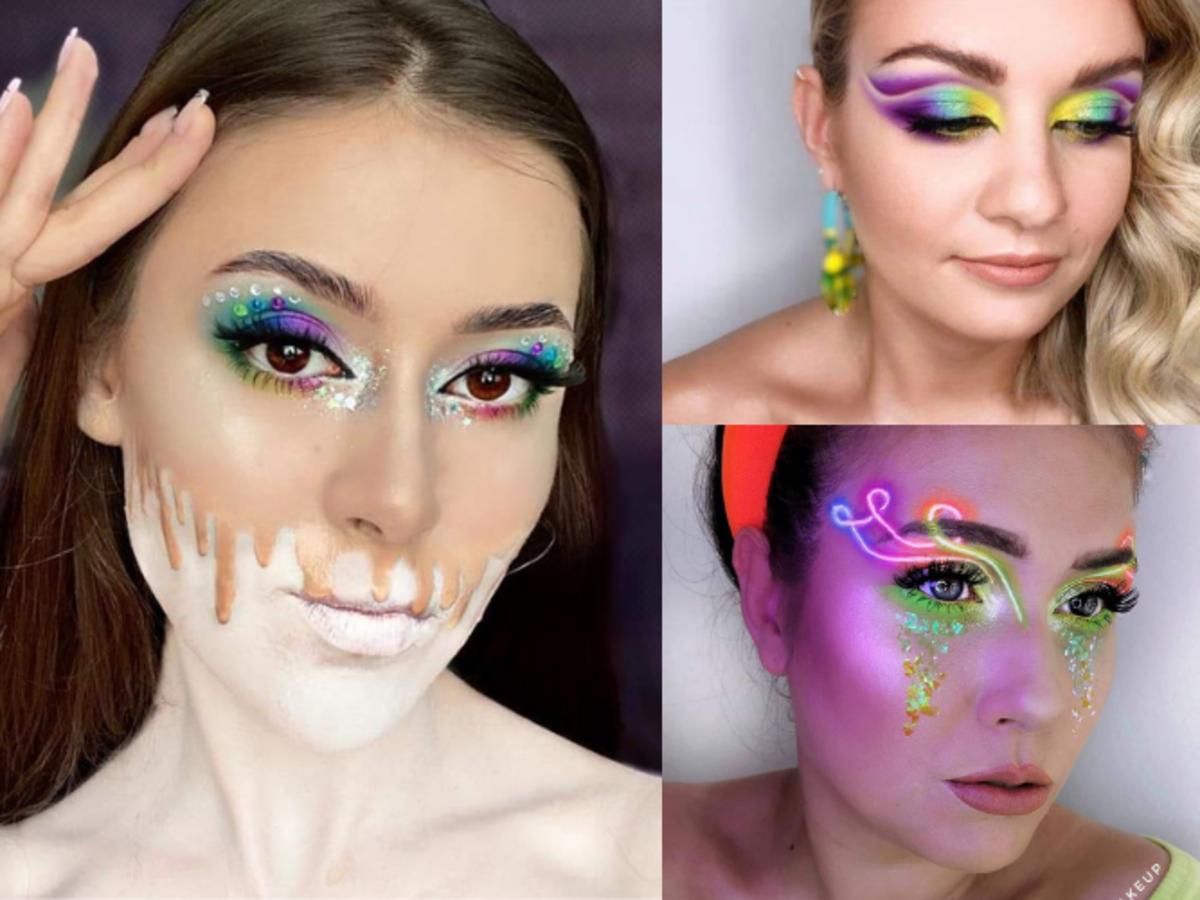 plebiscyt neonowy makijaż