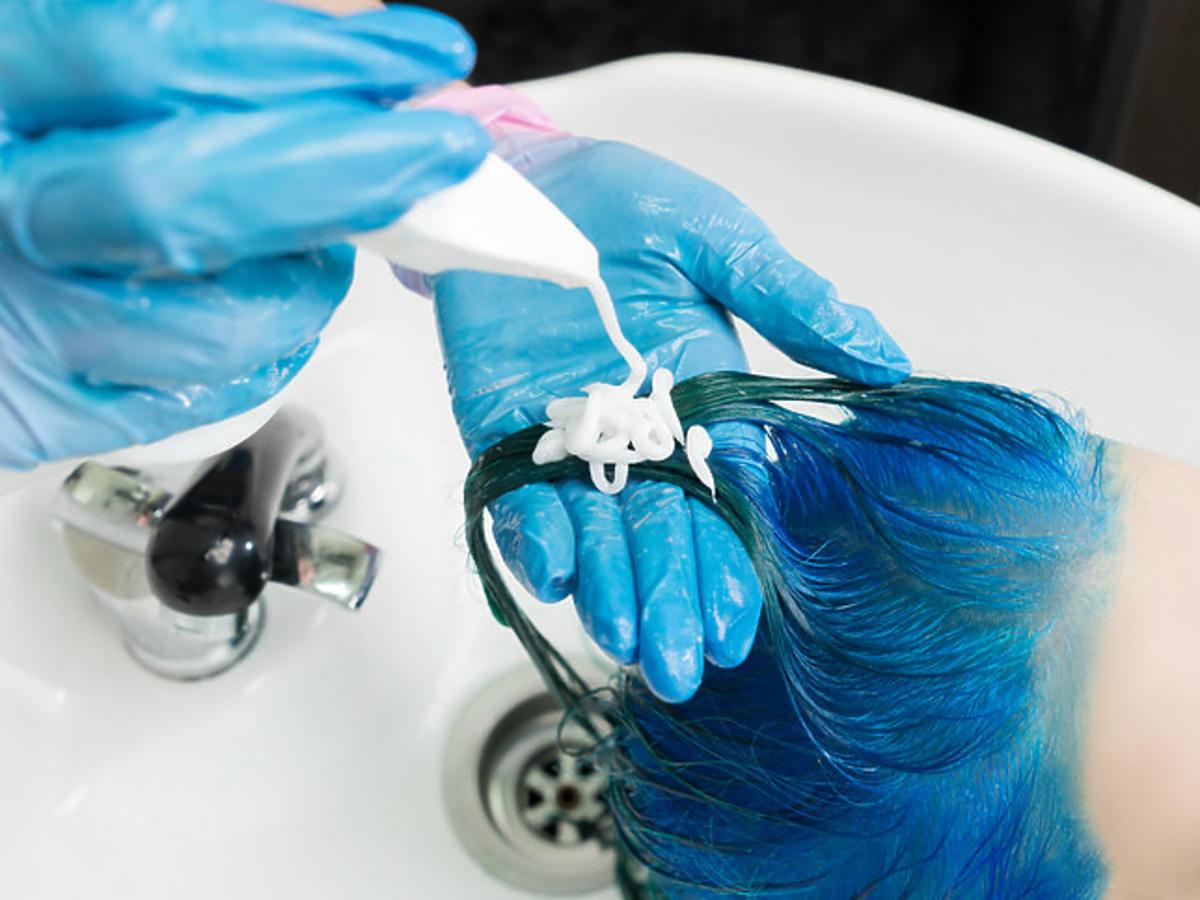 płukanki do włosów - niebieska