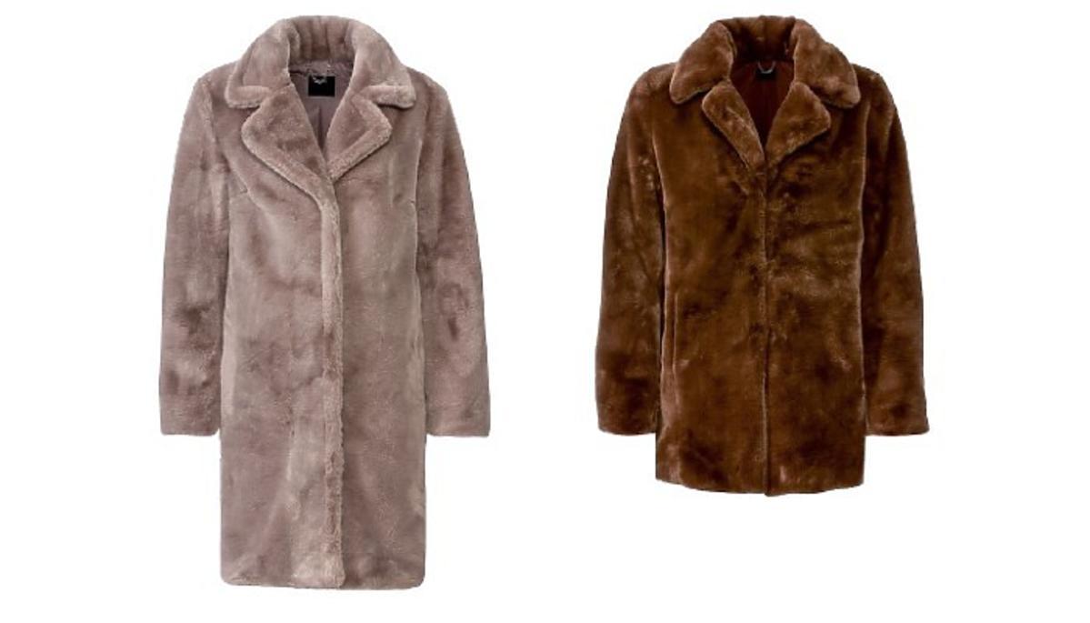 Pluszowy płaszcz z Lidla