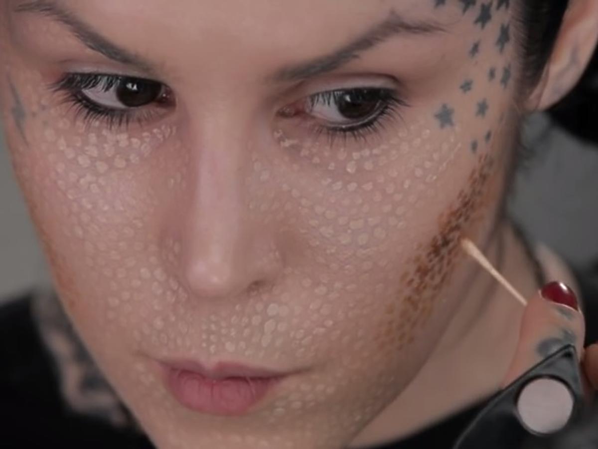 Pointillism makijaż