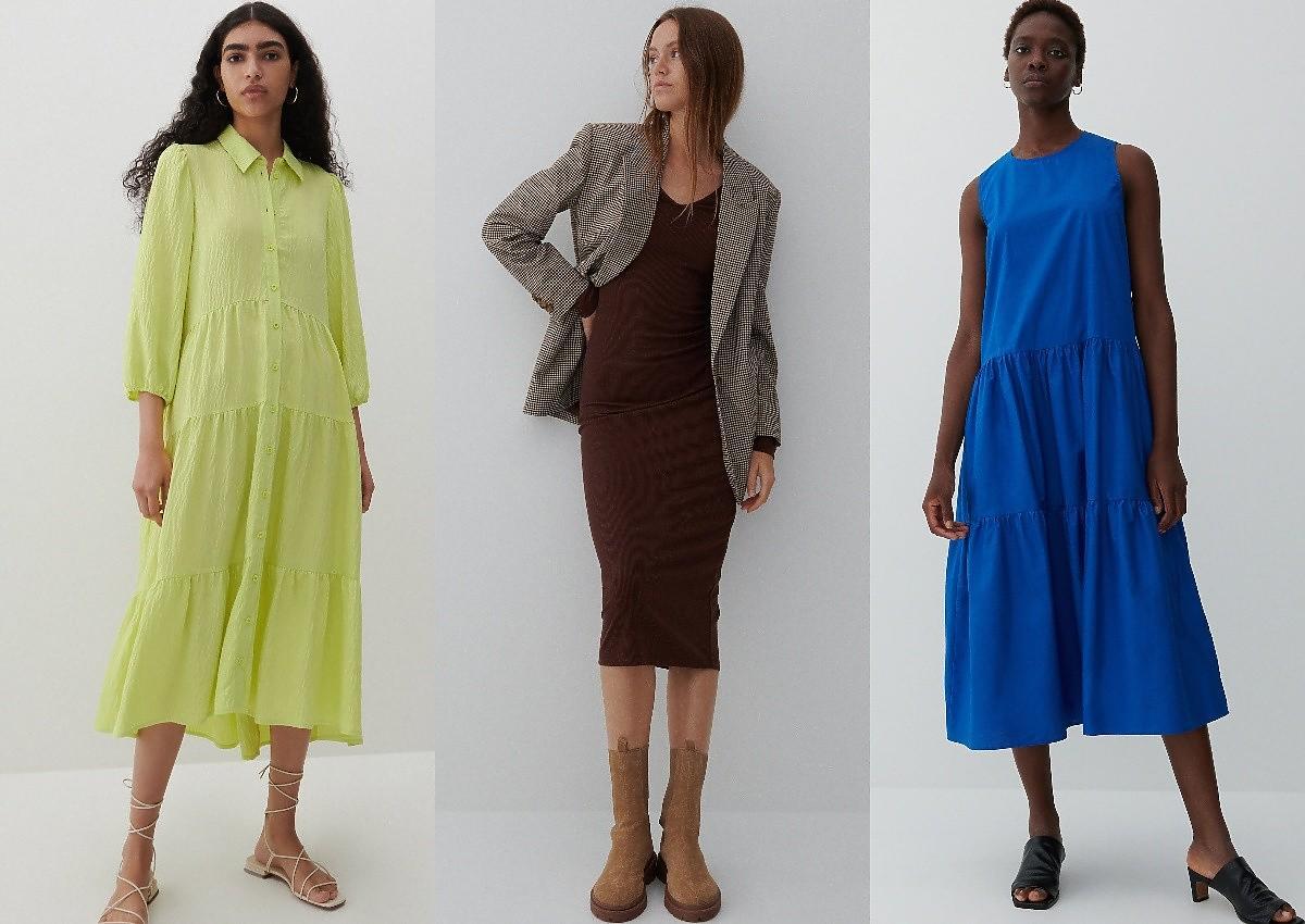 Reserved sukienki midi wyprzedaż
